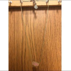 Kendra Scott Elisa Pendant Necklace in baby pink